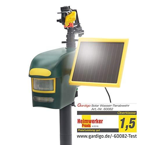 Gardigo Solar Wasserstrahl Tiervertreiber   Reiherschreck, Katzenschreck, Hundeschreck, Taubenschreck   Reichweite bis zu 10m