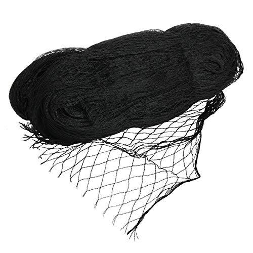 VIIRKUJA 4 x 5 m feinmaschiges Teichnetz (18 x 18 mm)   Farbe Schwarz   Vogelschutznetz, Laubnetz, Vogelabwehrnetz, Teichabdecknetz, Vogelschutznetz