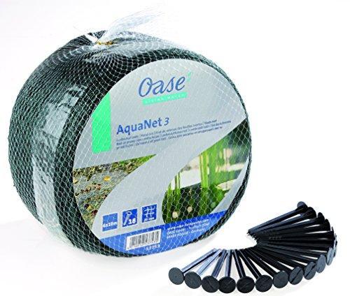 Oase 53753 Aquanet Teichnetz 3, idealer Schutz von Teichen vor runterfallenden Blättern und Laub, passend für Teiche bis max. 6 x 10 m, auch als Vogelschutznetz bei Bäumen und Sträuchern verwendbar